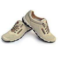 ОТПРАВЛЯЮ наложенным платежом-бежевые кожаные кроссовки перфорация