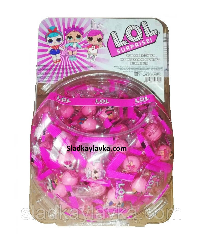 Жевательная резинка LoL банка 200 шт (Saadet)