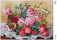 """Схема для полной вышивки бисером """"Корзина роз"""""""