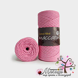 Хлопковый шнур Maccaroni Cotton Filled 3 мм, №627,  розовый