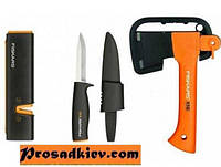 Набор подарочный Fiskars 1025441 (топор Х5 ХХS + нож поплавок 125860 + точилка 120740 + сумка)