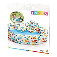 Детский надувной бассейн Intex 59469 Морские Рыбки, пляжный мяч, круг, бассейн