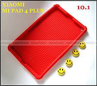 Красный противоударный силиконовый чехол бампер для Xiaomi Mi pad 4 Plus (10.1) с подставкой Flexy TPU