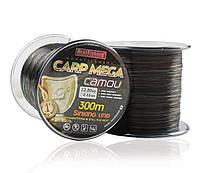 Леска карповая Bratfishing Carp MEGA camou/dark green/black 0,33mm 300m