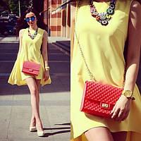 Платье хит лето 2015 желтого цвета