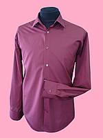 Рубашка бордовая с длинным рукавом , фото 1
