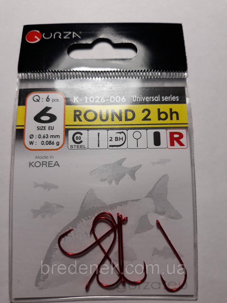 Крючки Gurza round red 2 bh № 6