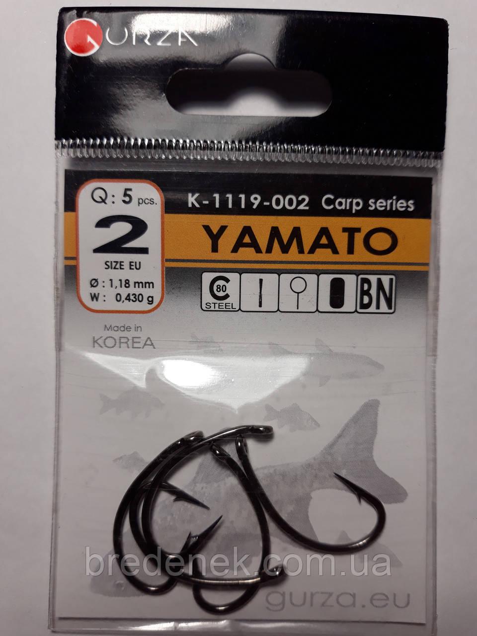 Крючки Gurza yamato № 2