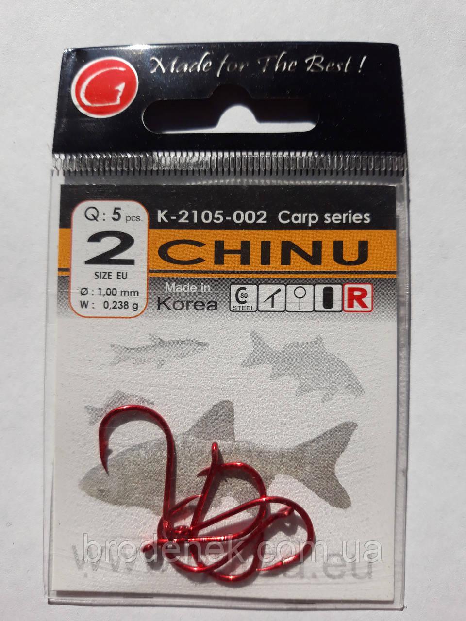 Крючки Gurza chinu red № 2