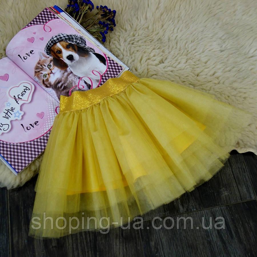 Нарядная фатиновая золотая юбка Five Stars U0232-110p