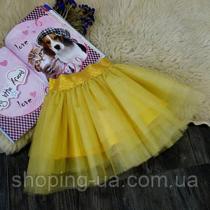 Нарядная фатиновая золотая юбка Five Stars U0232-110p, фото 2