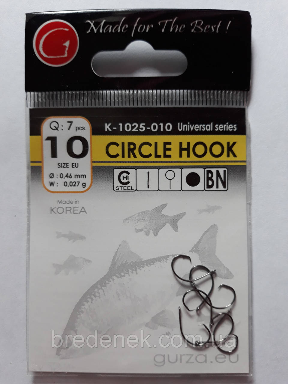 Гачки Gurza circle hook № 10