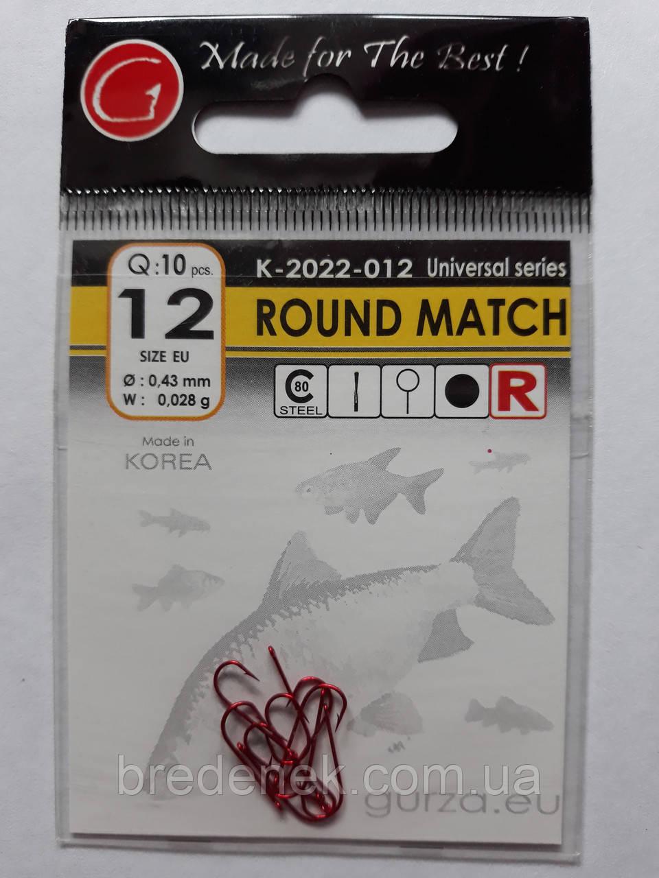 Крючки Gurza round match red № 12