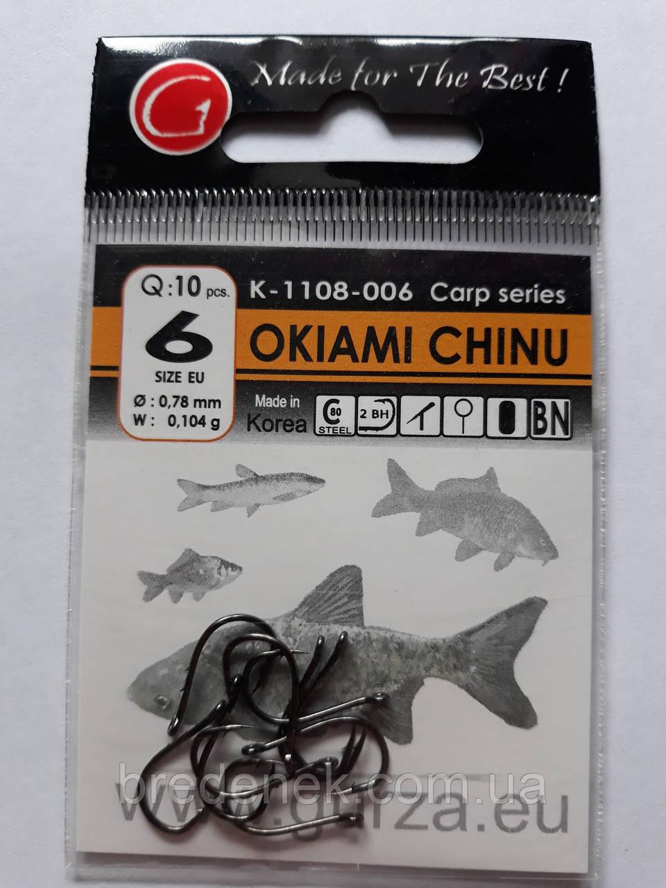 Крючки Gurza okiami chinu № 6