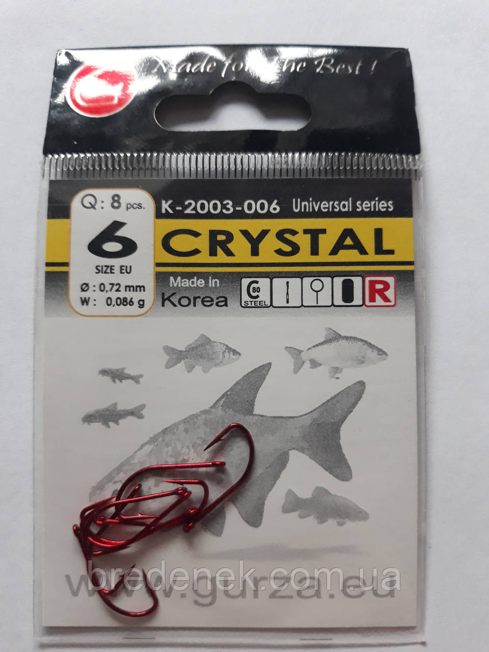 Крючки Gurza crystal red № 6