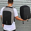 Рюкзак антивор Bobby с USB | Оригинал черный, фото 6