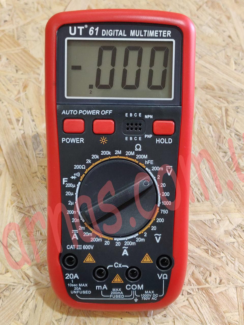 Мультиметр (тестер) Digital Multimeter UT(VC)61 цифровой, фото 1