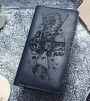 Мужской кожаный кошелек Звездные войны черный, фото 1