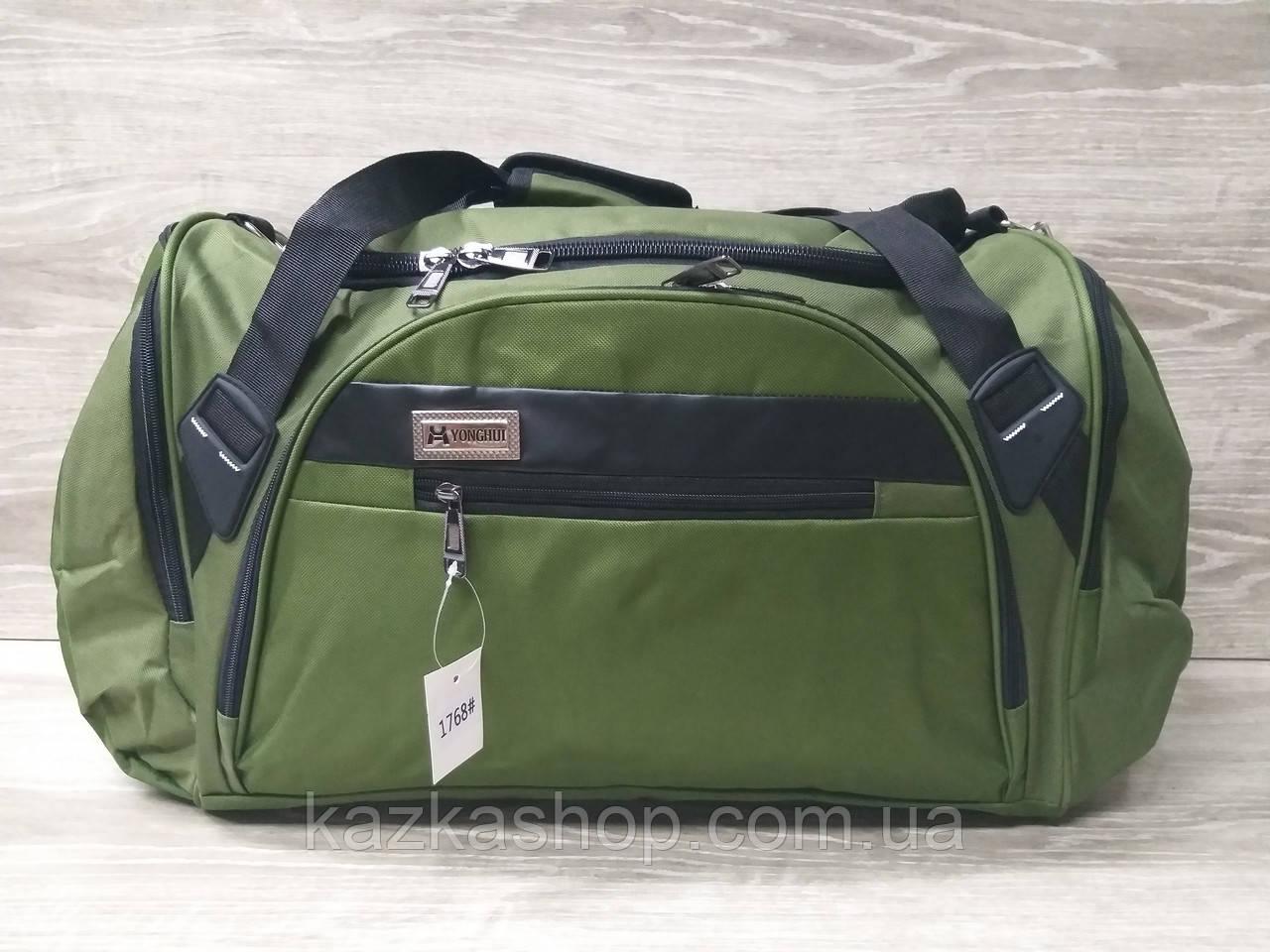 Дорожная сумка хорошего качества, большого размера 60х28х25 см, плотный материал, ножки на дне сумке