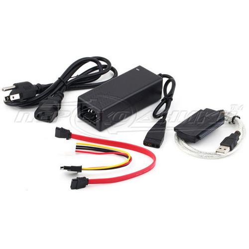 Адаптер USB 2.0 to SATA IDE 2.5/3.5 с блоком питания