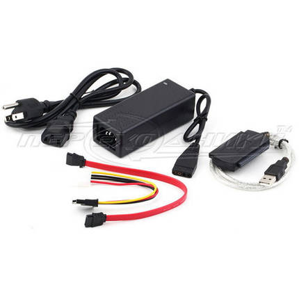 Адаптер USB 2.0 to SATA IDE 2.5/3.5 с блоком питания, фото 2