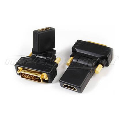 Переходник HDMI (F) - DVI (24+1) (M), 360 градусов, фото 2