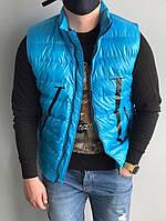 Мужская жилетка в стиле Moncler Valentino синяя, фото 1