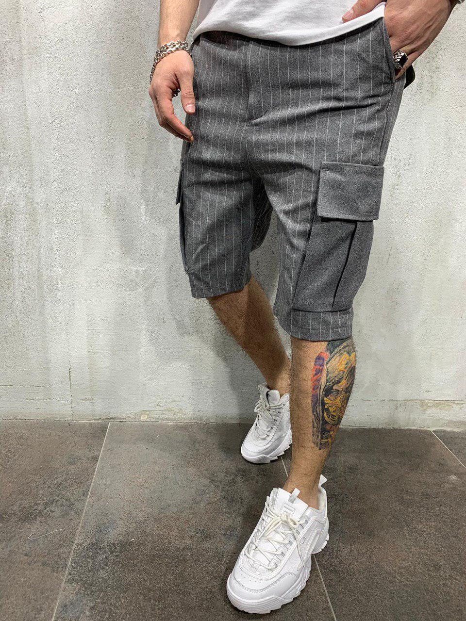 😜 Шорты - мужские синие рваные шорты темно-серый