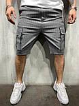 😜 Шорты - мужские синие рваные шорты темно-серый, фото 2