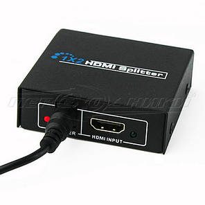 HDMI Splitter 1x2 v1.4,  Full 3D 4Kx2K металл, фото 2