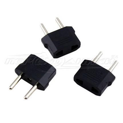 Электрический сетевой переходник 6A US, AU to EU, черный, фото 2