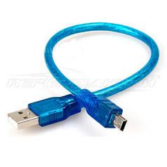 Кабель USB 2.0 AM - mini USB 5 pin(высокое качество) 0.3 м