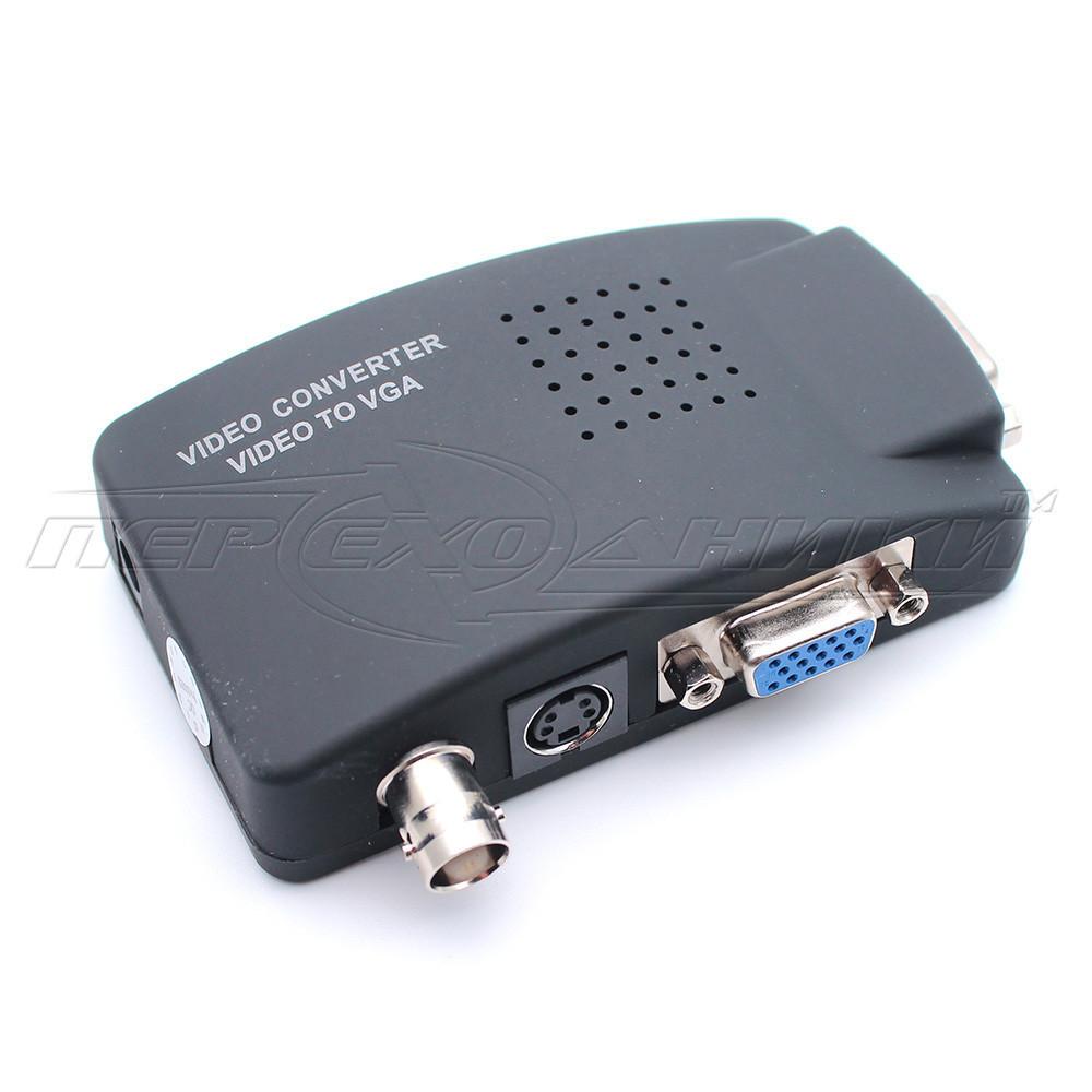 Конвертер BNC + S-Video to VGA