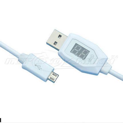 Кабель USB 2.0 - micro USB, с индикатором напряжения, 1 м, фото 2