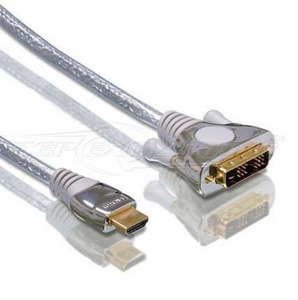 Кабель HDMI - DVI (18+1), силикон, 1.8 м, фото 2