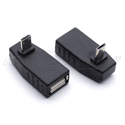 Переходник OTG USB - micro USB, угловой, фото 2