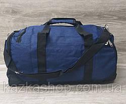 Дорожная сумка хорошего качества, среднего размера 50х25х20 см, плотный материал, ножки на дне сумке, фото 3