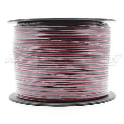Кабель акустический CCA 2x0.2 мм кв. черно-красный, бухта 100м, фото 2