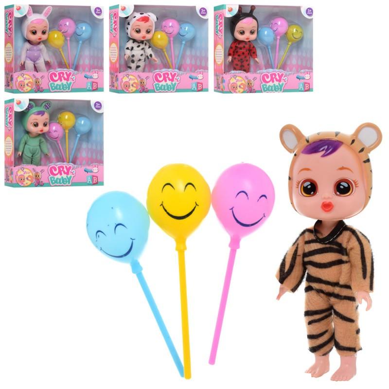 Кукла Cry Baby, 17см, воздушные шары, 5 видов, X15614