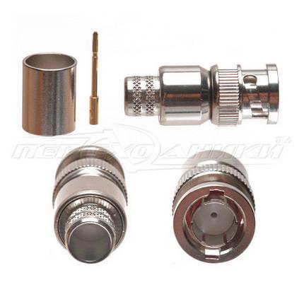 Разъем штекер BNC под кабель RG-213, Crimp (обжим) , фото 2