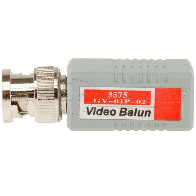 1-канальный пассивный приемник/передатчик BNC по витой паре GV-01P-02