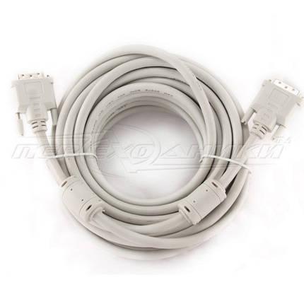 Кабель DVI - DVI dual link (24+1), 2 феррита, 10 м, фото 2