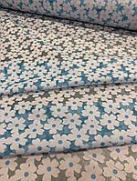 Ткань одежная шифон-коттон Органза голубой