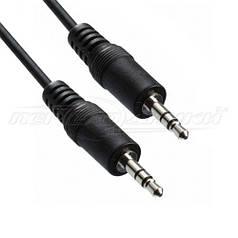 Аудио кабель AUX 3.5 mm jack (эконом качество), 1.2 м