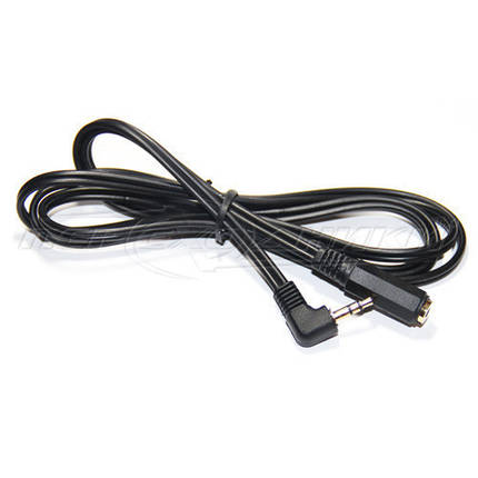 Аудио кабель удлинитель AUX 3.5 mm jack (эконом качество), угловой, 1.5 м, фото 2