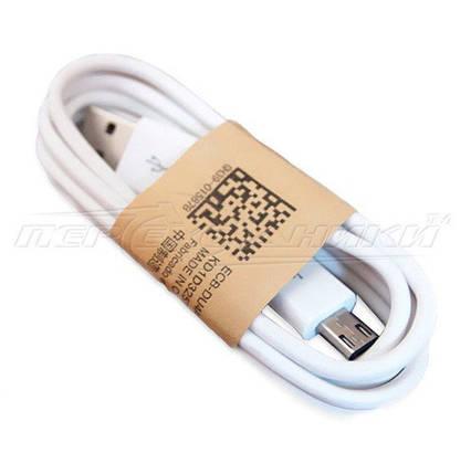 Кабель USB 2.0 - micro USB (эконом качество), 1м белый, фото 2