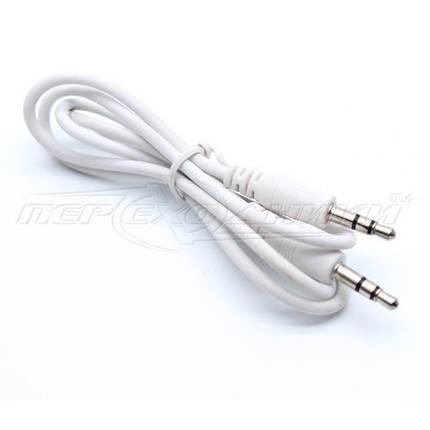 Аудио кабель AUX 3.5 mm jack, 0.65 м, белый, фото 2