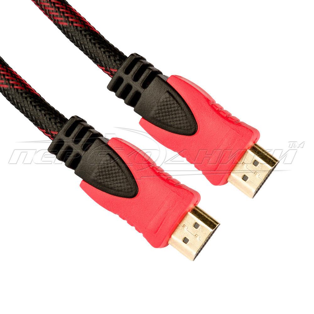 Кабель HDMI v1.4 с ферритами в оплетке,(хорошее качество) 10 м
