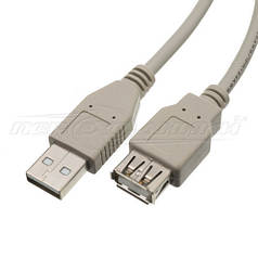 Кабель удлинитель USB 2.0 AM - AF, 1.8 м
