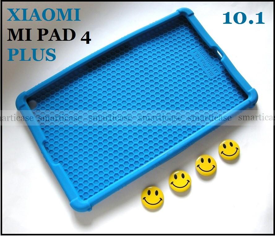 Синий противоударный силиконовый чехол бампер для Xiaomi Mi pad 4 Plus (10.1) с подставкой Flexy TPU Blue
